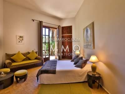Achat villa Marocain épuré de prestige Marrakech Palmeraie