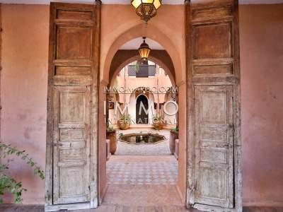 Vente villa Marocain Prestige Maison d'hôtes Marrakech Palmeraie