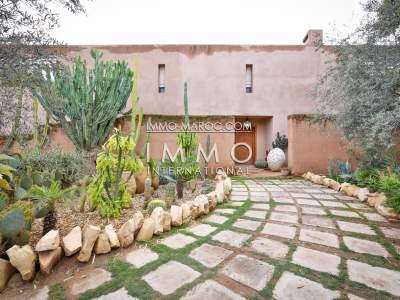 Vente maison Contemporain Marocain biens de prestige Marrakech Palmeraie Circuit Palmeraie