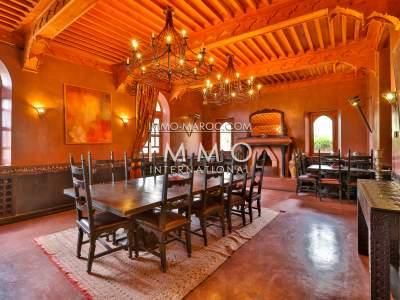 Vente villa Marocain de prestige Maison d'hôtes Marrakech Palmeraie