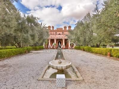 Villa à vendre Marocain luxe Maison d'hôtes Marrakech Palmeraie