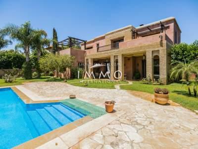 Villa en venta marroquí limpia Marrakech Golfs Amelkis