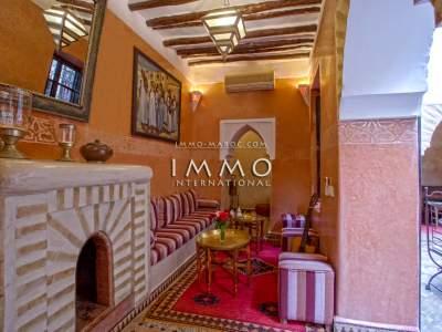 Vente riad de prestige Maison d'hôtes Marrakech Place Jamaa El Fna Dabachi