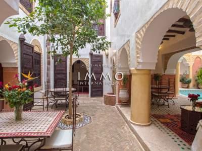 Riad à vendre prestige a vendre Maison d'hôtes Marrakech Place Jamaa El Fna Dabachi
