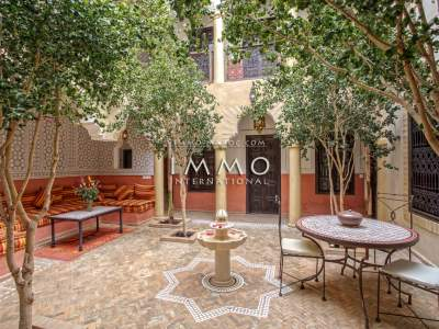 Vente riad haut de gamme Maison d'hôtes Marrakech Place Jamaa El Fna Dabachi