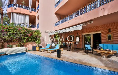 vente appartement luxe rez de jardin hivernage marrakech