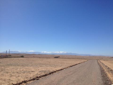 achat terrain Terrain villa Marrakech Extérieur Route Barrage