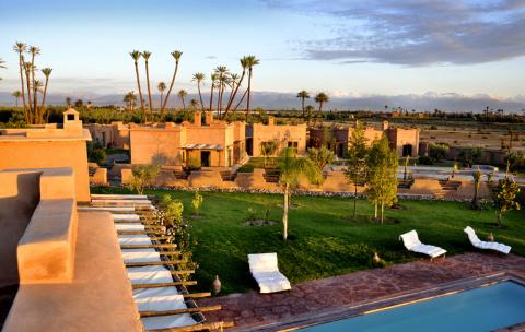 Villa à vendre Prestige Maison d'hôtes Marrakech Extérieur Route Fes