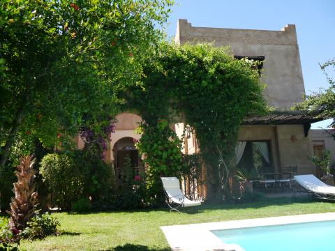 villa vente Marocain Marrakech Extérieur Route Fes