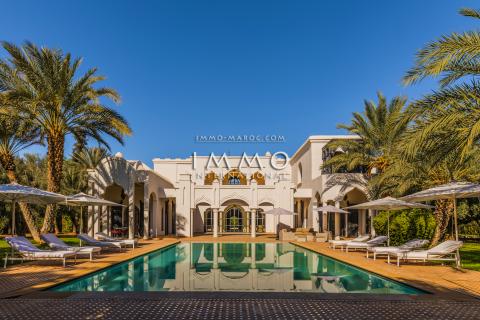 villa achat Marocain épuré prestige Marrakech Golfs Amelkis