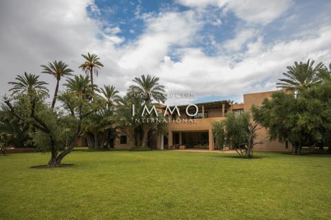 Vente maison Moderne Prestige Marrakech Palmeraie