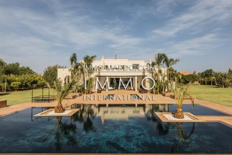 villa achat Marocain épuré prestige a vendre Marrakech Palmeraie Bab Atlas