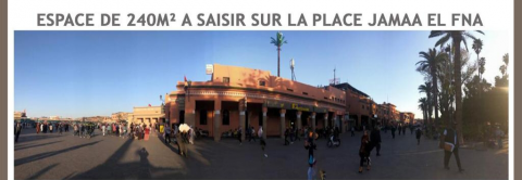 Location local commercial Local Commercial Marrakech Place Jamaa El Fna