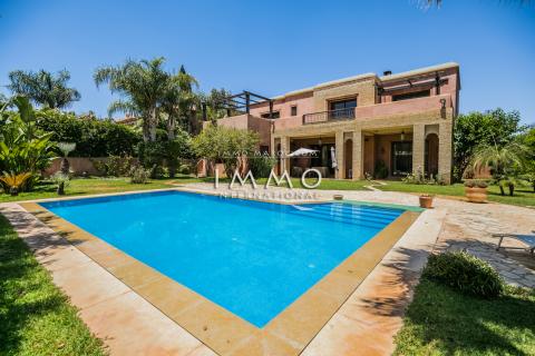 villa achat Marocain épuré Marrakech Golfs Amelkis