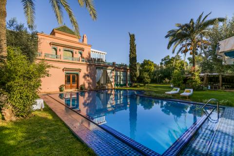 Villa à vendre Marocain épuré luxueuses Marrakech Palmeraie Circuit Palmeraie