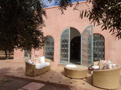 Villa à louer Marocain épuré Marrakech Extérieur Route Ourika